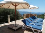 Large Parasols and lots of Sunbeds mean your perfect mixture of sun & shade!