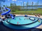 'Go Fish' Pool, Lazy River, Giant Waterslide, Kiddy Slide, Hot Tub
