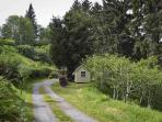 Driveway Leading to Stylish Cabin