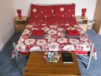 Double bed with towels supplied
