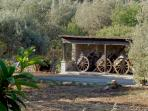 From the bathroom window you will see a private collection of ancient original Sicilian carts.