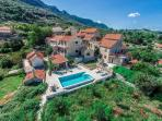 Stone villa with pool in small village on island of Hvar