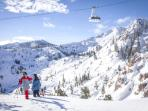 Alpine Meadows Sherwood lift takes you to Alpine Meadows and on to Squaw Valley
