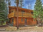 The cabin boasts 3 bedrooms, 2 bathrooms and space for 6!