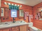 These double vanities make it easy for 2 people to get ready together.