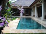 The pool is 10m by 2.5 meters and visible from everywhere in the property.