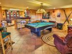 Wonderful terrace level game room with wet bar