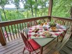 Breathtaking breakfast views from the back deck