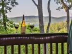 Enjoy an glass of wine at Buckhorn Lodge