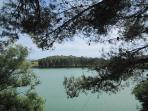 Il lago della diga di Santa Rosalia, a circa tre quarti d'ora da Vittoria.