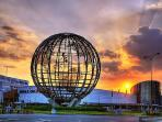 The famous globe of the SM Mall of Asia