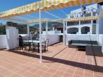 Rooftop Terrace with Comfortable Sofas, BBQ & Table & Chairs for Outdoor Dining