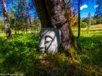 Buddha overlooking  Black Oak Bed and Breakfast