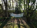 Relax in the hammock and enjoy the garden of England in your own private garden