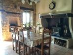 Another View of the dining area which leads onto a cosy lounge