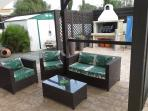 Bbq/outdoor seating pergola area