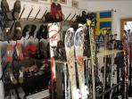 The Ski / Boot Room of the Pension Hoffelner with boot heating system.