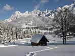 Winter view of Ramsau