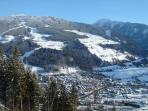 Winter view of Schladming