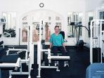 The gym at the Clubhouse
