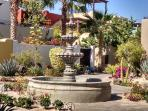 1 of many fountains throughout development