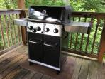 Natural Gas Grill - 4 burners, plus a side burner! (New 2016)