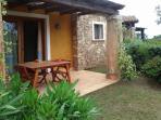 giardino posteriore con veranda