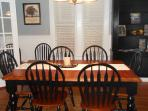 Enjoy a wonderful family dinner in our lovely dinning room.