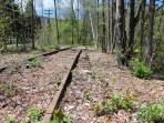 Nearby railroad tracks along side the Esopus River, perfect for walks