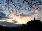 tramonto sul borgo