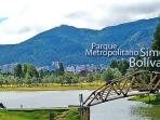 The apartment is in front of the biggest park of Bogota.