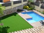 Vista general zona piscina