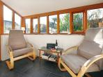 Sunroom with DAB radio and under floor heating