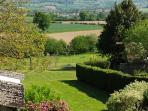 View from the family suite bedroom window, over the garden and the Valley de la Vire, breathtaking.