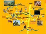 Situation géographique exceptionnelle au cœur de tous les plus beaux sites Quercy Périgord