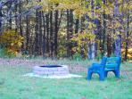 Firepit in front of cottage