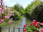 La rivière du Vieux Moulin de Crillon. Il n'y a pas de moustiques, l'eau est courante.