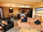 Relax with your friends or family in the spacious, comfy living area