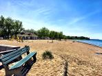 Sodus Point only 6 miles away is a great public beach, playground and much to do