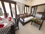 Villa 1 - Dinning , Living room & Master Bedroom