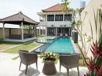 Lovely 15 m Pool , In front of Gazebo, perfect place to relax, and enjoy Beach And Rice field breeze