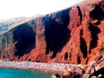 The famous Red beach