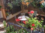 Terrasse privative sur jardin