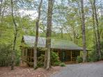 LAUREL CREEK- 2BR/2BA- PRIVATE CABIN SLEEPS 6, KING BEDS AND TV`S IN BEDROOMS, PET FRIENDLY, HORSESHOES, DISH TV, CREEK, HOT TUB, WOOD BURNING FIREPLACE, WIFI, GAS GRILL, FIRE PIT, HIKING TRAILS, ABUNDANCE OF WILDLIFE! STARTING AT $99 A NIGHT!