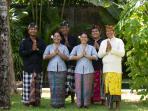 Balinese staff of Villa Kelapa