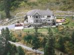 Aerial view of our house on 25 acres: A View Fit for a King, from Kingsview