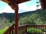View from lower deck looking into Taos Canyon.