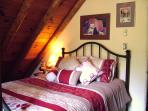 Upstairs, master queen bedroom opens to large outdoor, covered deck!