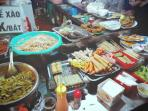 so many traditional food at CAT BI food market