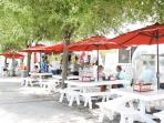 Seaside's Food Trucks and Dining Tables